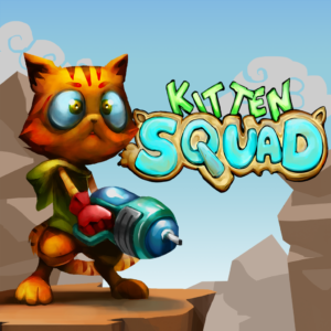 Kitten Squad with Gun | Arcade Distillery